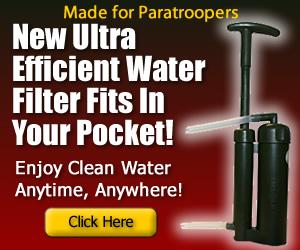 Paratrooper Water filter  purifier pocket hand pump